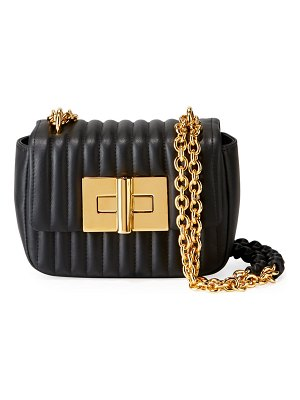 TOM FORD Natalia Small Quilted Leather Flap Shoulder Bag