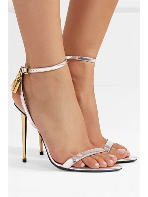 TOM FORD padlock metallic leather sandals