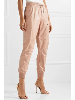 TOM FORD paneled leather track pants
