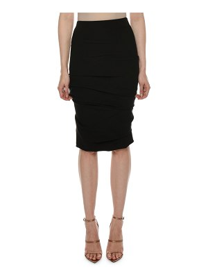 TOM FORD Ruched Jersey Body-Con Knee-Length Skirt