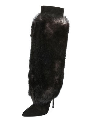 TOM FORD Shearling Fur Knee Boot