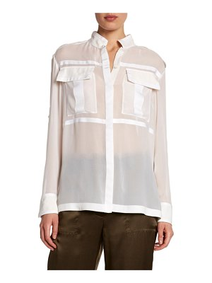 TOM FORD Sheer Chiffon Safari Shirt