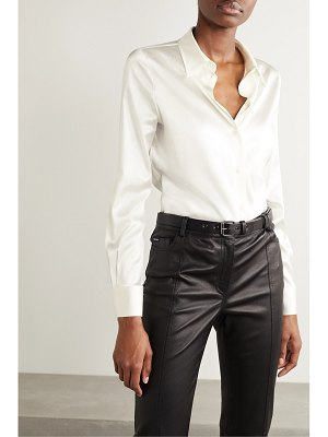 TOM FORD silk-blend satin shirt