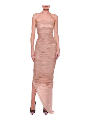 TOM FORD Strapless Bustier Ruched Gown