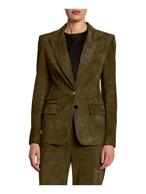 TOM FORD Suede Fitted Blazer Jacket