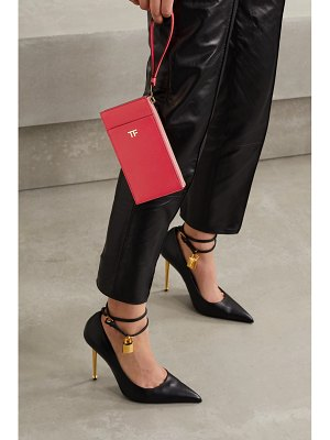 TOM FORD tf textured-leather clutch
