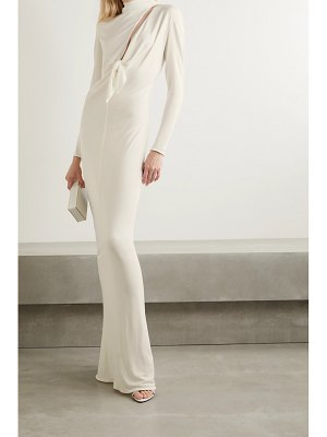 TOM FORD tie-front cutout jersey gown