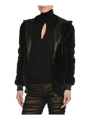 TOM FORD Zip-Front Faux-Shearling Jacket