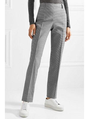 Tomas Maier pepita houndstooth stretch wool and cotton-blend slim-leg pants