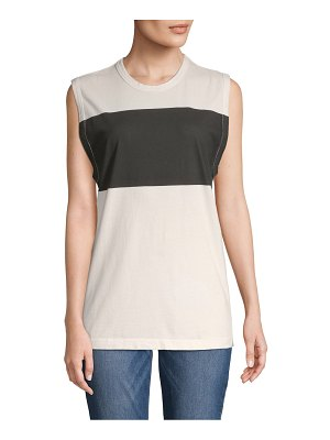 Tomas Maier Roundneck Cotton Muscle Tank Top