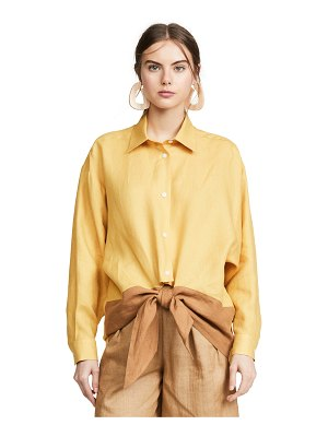 Tome tie front shirt