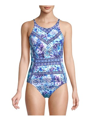 Tommy Bahama Aquapetals Floral One-Piece Swimsuit