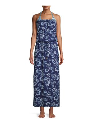 Tommy Bahama Chambray Blossom Maxi Coverup Dress