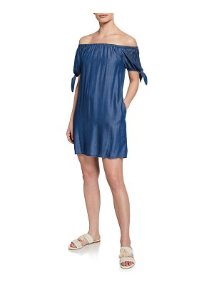 Tommy Bahama Chambray Off-the-Shoulder Dress