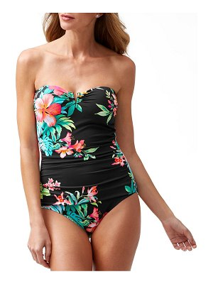 Tommy Bahama Fleur de Flora Strapless One-Piece Swimsuit