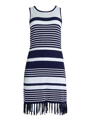 Tommy Bahama Fringed Striped Dress