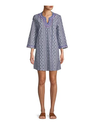 Tommy Bahama Geocolumn Splitneck Tunic Coverup