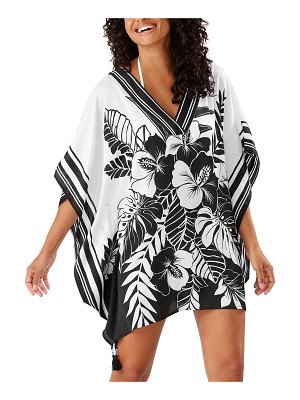 Tommy Bahama Hibiscus-Print V-Neck Coverup Tunic