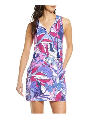 Tommy Bahama linework leaves cover-up spa dress