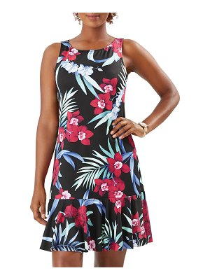 Tommy Bahama Midnight Orchid High-Neck Coverup Dress