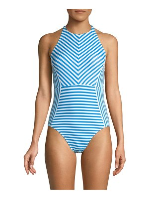 Tommy Bahama Palm Party Striped One-Piece Swimsuit