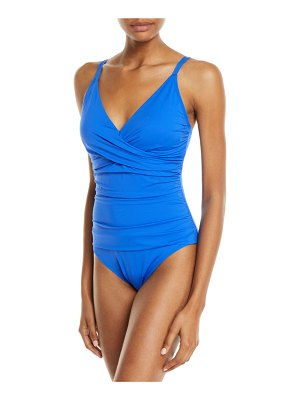 Tommy Bahama Pearl Cross-Front One-Piece Swimsuit