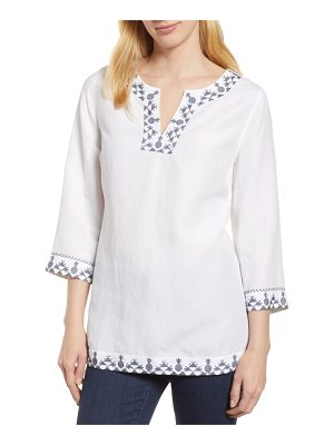 Tommy Bahama prim pina embroidered tunic