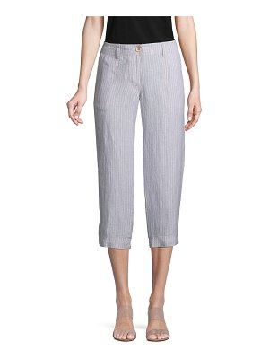 Tommy Bahama Striped Linen Cropped Pants