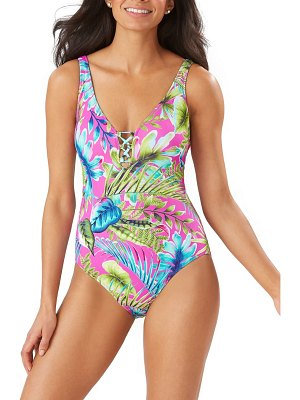 Tommy Bahama sun kissed reversible one-piece swimsuit