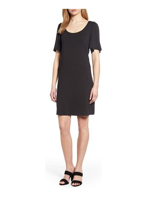 Tommy Bahama tambour short sleeve stretch cotton sheath dress