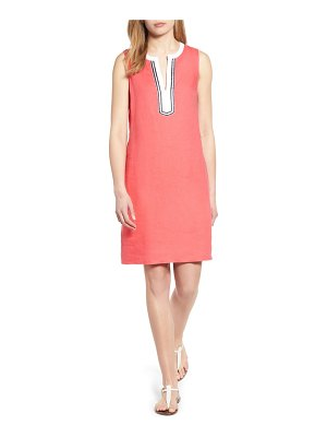 Tommy Bahama two palms split neck linen shift dress