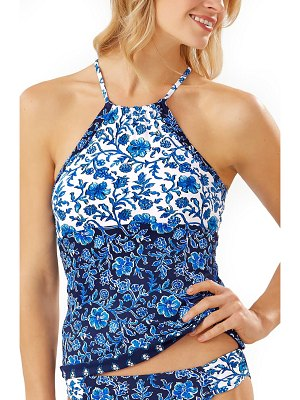 Tommy Bahama woodblock reversible tankini top