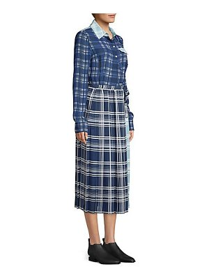 Tommy Hilfiger Collection pleated madras shirtdress