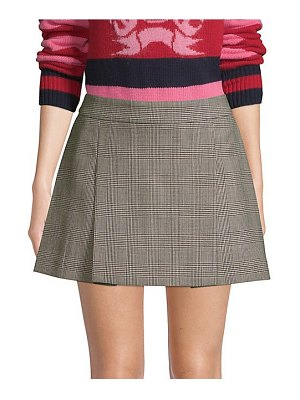 Tommy Hilfiger Collection pow wool houndstooth mini skirt