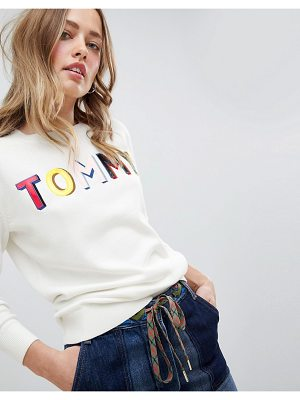 Tommy Hilfiger Knitted Sweater With Patent Rainbow Logo