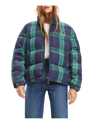 Tommy Jeans tjw plaid puffer jacket