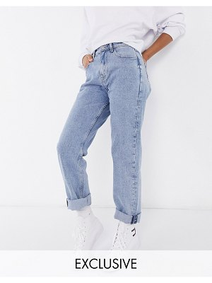 Tommy Jeans ultra high rise straight jeans in light wash-blues