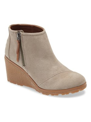 TOMS avery wedge bootie