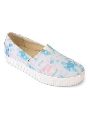 TOMS tie dye canvas slip-on