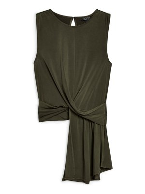 Topshop asymmetrical twist detail top