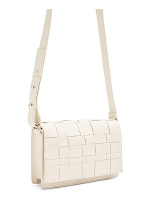 Topshop basket weave faux leather crossbody bag