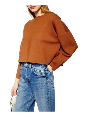 Topshop bonded boxy cropped sweater