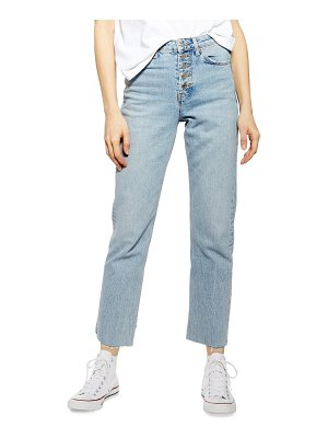 Topshop button fly straight leg jeans