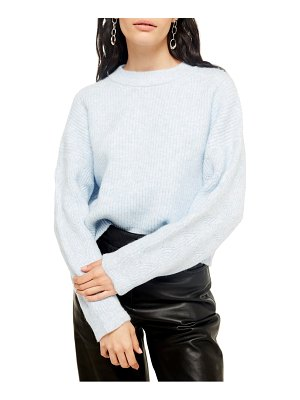 Topshop cable knit sleeve sweater