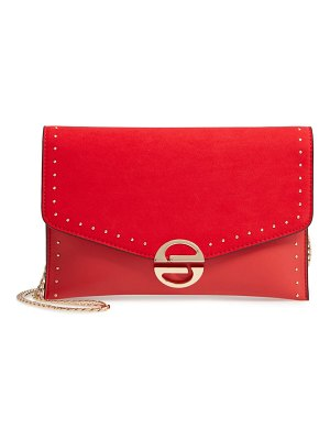 Topshop candice studded faux leather clutch