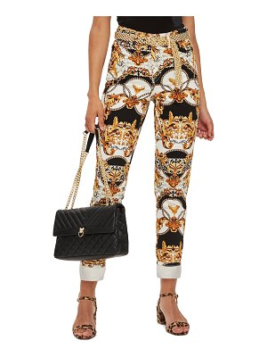 Topshop chain print nonstretch mom jeans