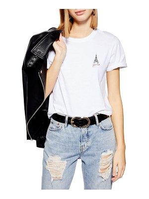 Topshop chest embroidery tee