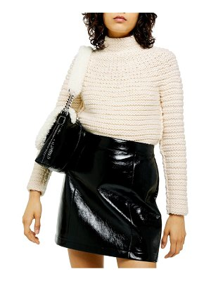 Topshop chunky funnel neck sweater