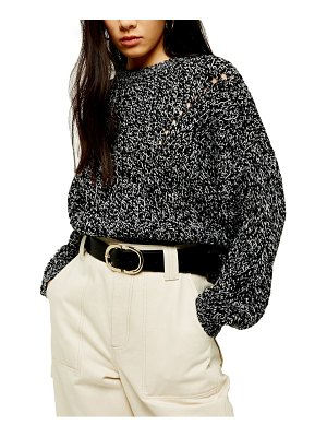 Topshop chunky pointelle sweater
