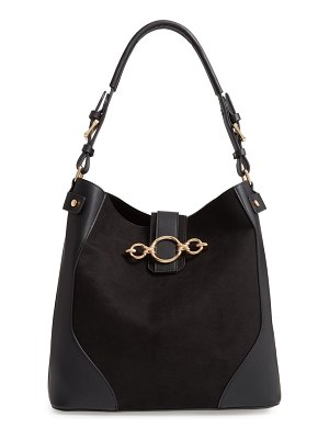 Topshop cleo faux leather hobo bag